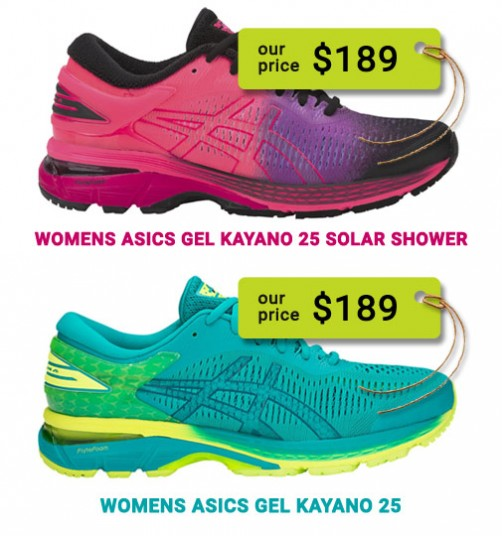 sports locker special - womens asics gel kayano $189